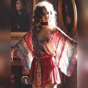 🌸SPELL DESIGNS🌸 Lotus Kimono Romper XS Ruby